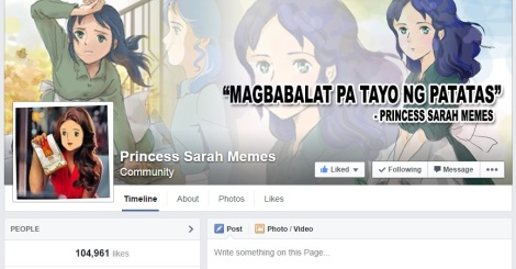A glimpse of the infamous Facebook page that revived the interest in the immortalized childhood anime