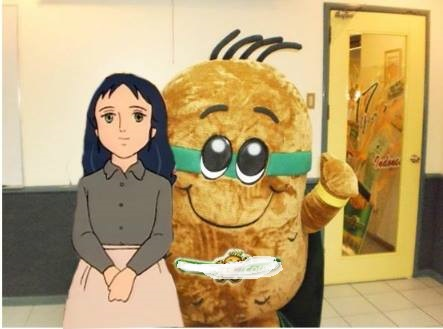*Obviously a selfie with a potato mascot*
